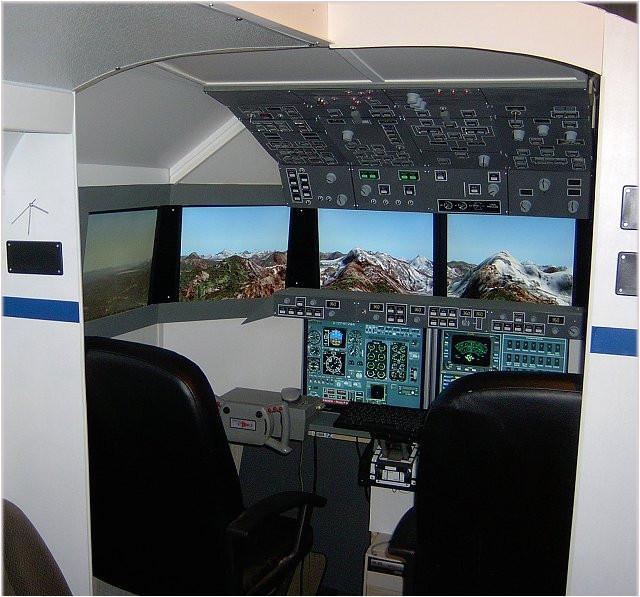 home built flight simulators