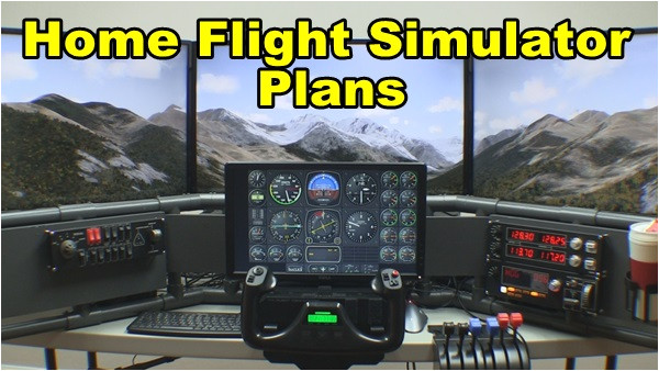 home flight simulator plans how to install larger displays