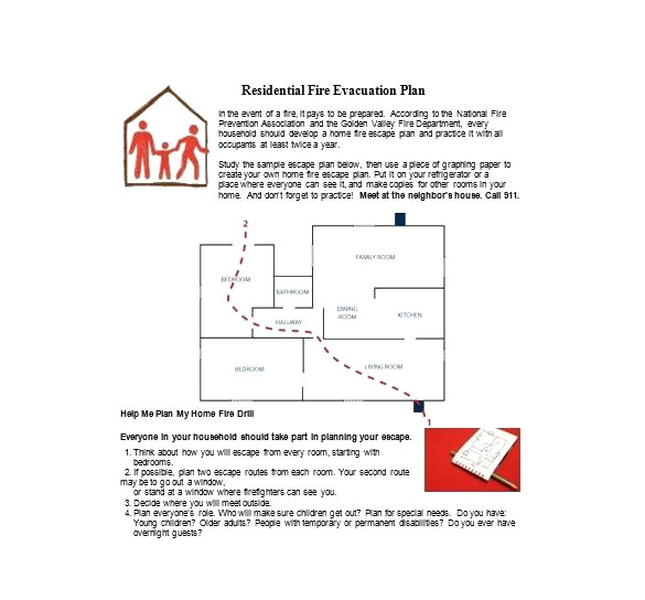 home daycare fire evacuation plan lovely home emergency evacuation plan homes floor plans
