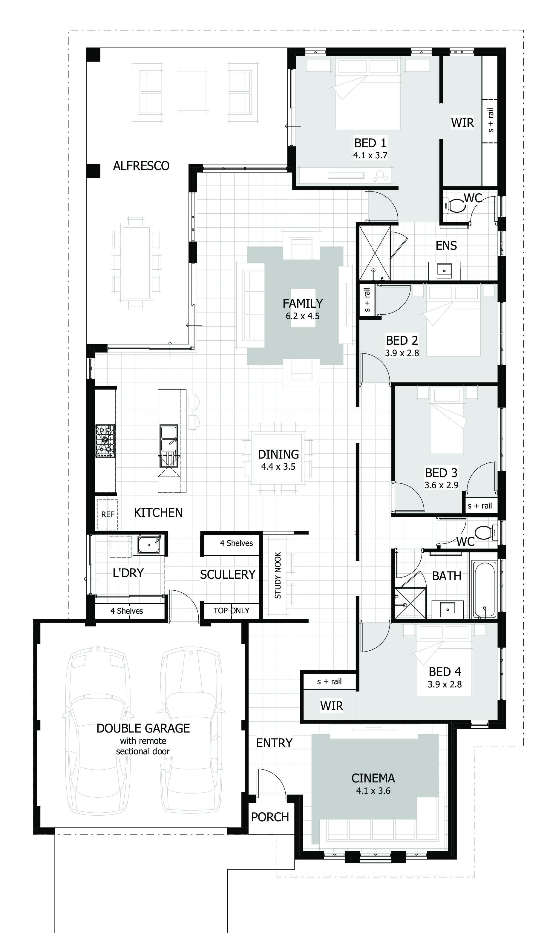 4 bedroom home designs plans