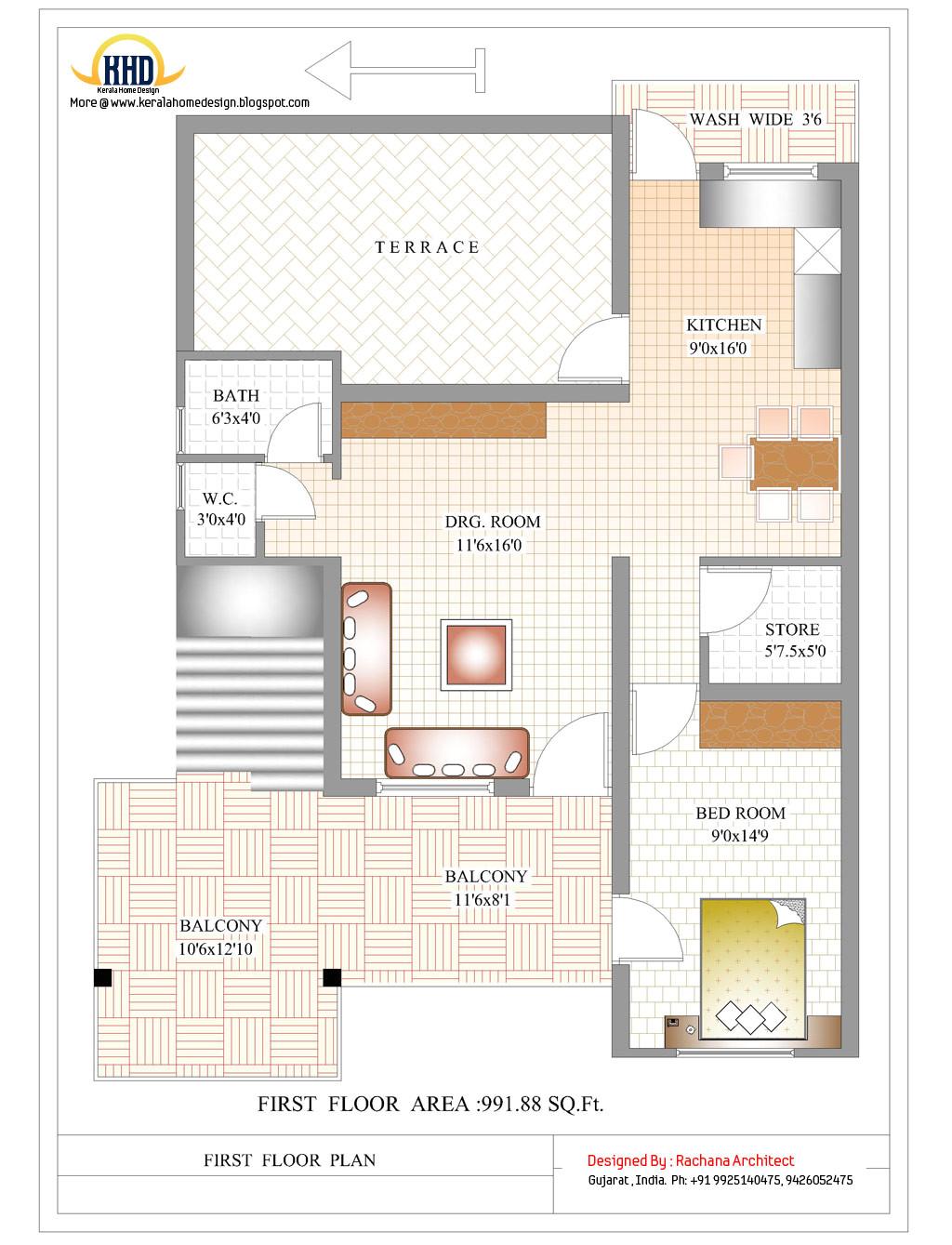 contemporary india house plan 2185 sqft more