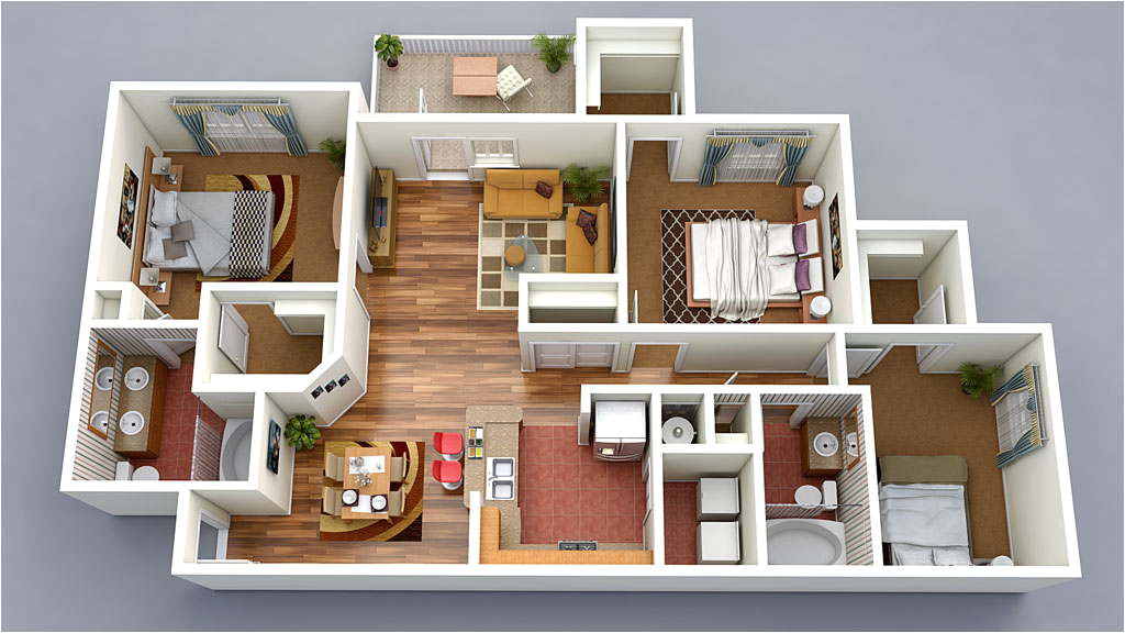 13 awesome 3d house plan ideas that