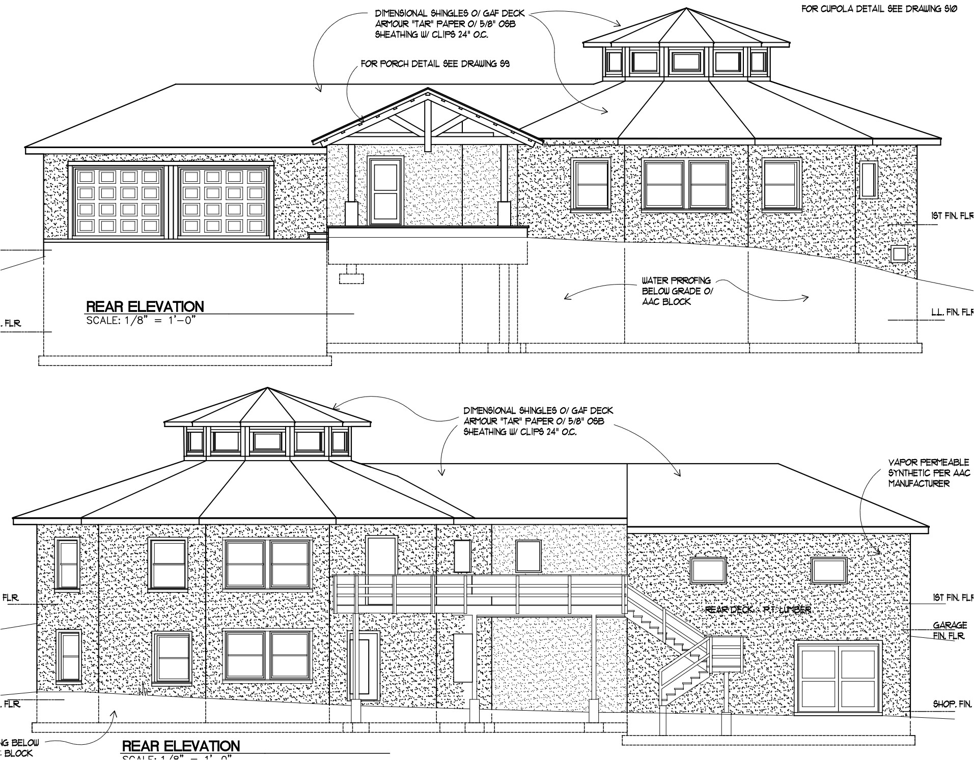 home plan drawings elevation 2