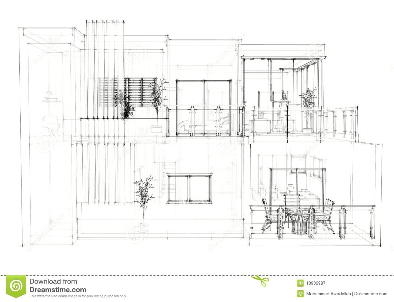 royalty free stock photography house architectural drawing image13906987