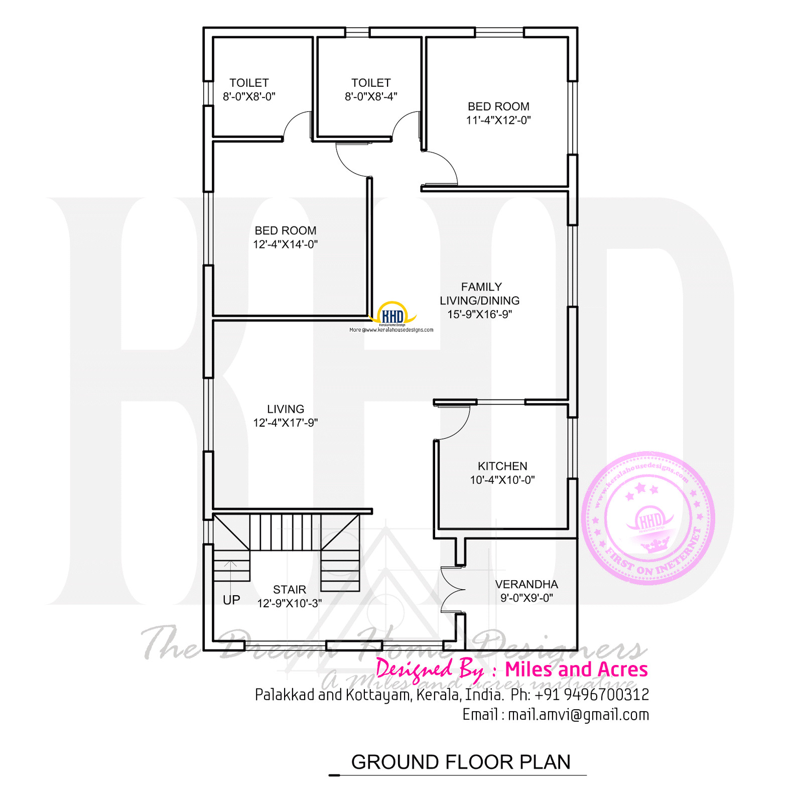 wide flat roof house with floor plan
