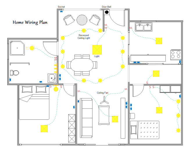 Home Electrical Wiring Plan Home Wiring Plan software Making Wiring Plans Easily