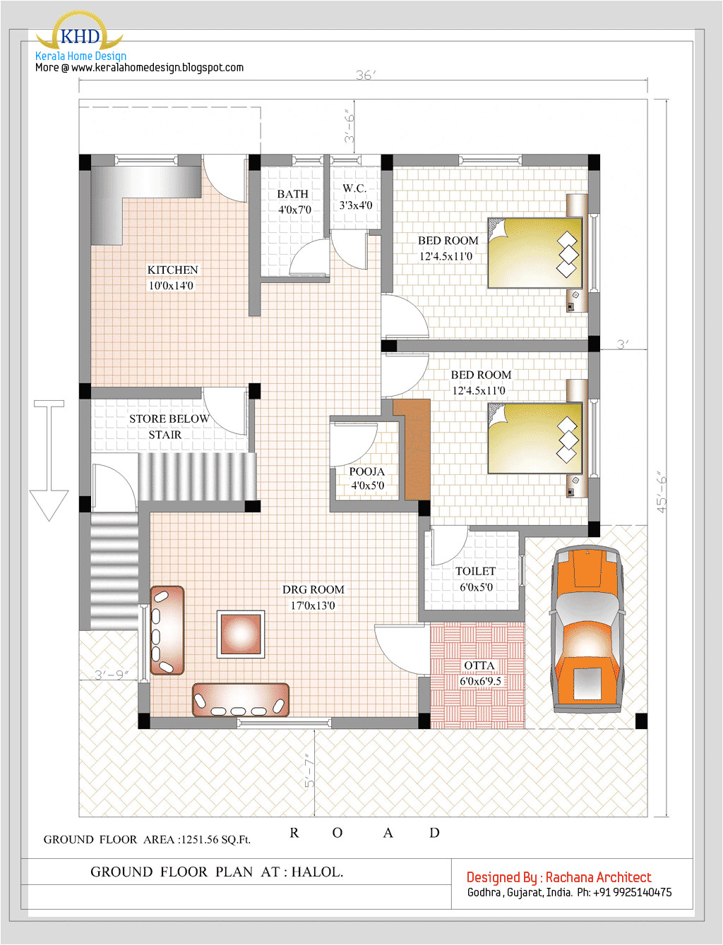 duplex house plan and elevation 2349 sq