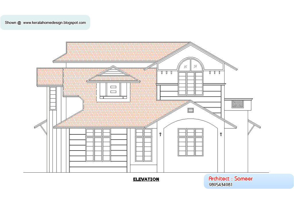 home plan and elevation 2138 sq ft