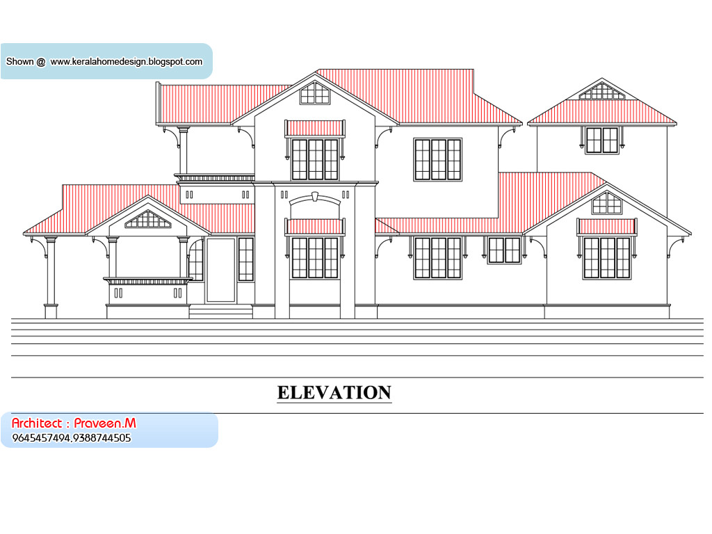 Home Elevation Plan Kerala Home Plan and Elevation 2033 Sq Ft Kerala Home