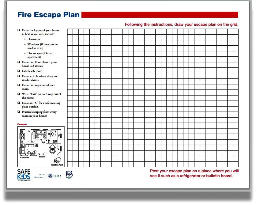home fire escape plan grid elegant nfpa how to make a home fire escape plan
