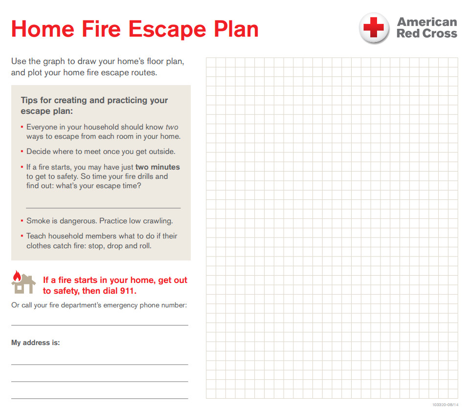 example fire escape plan home