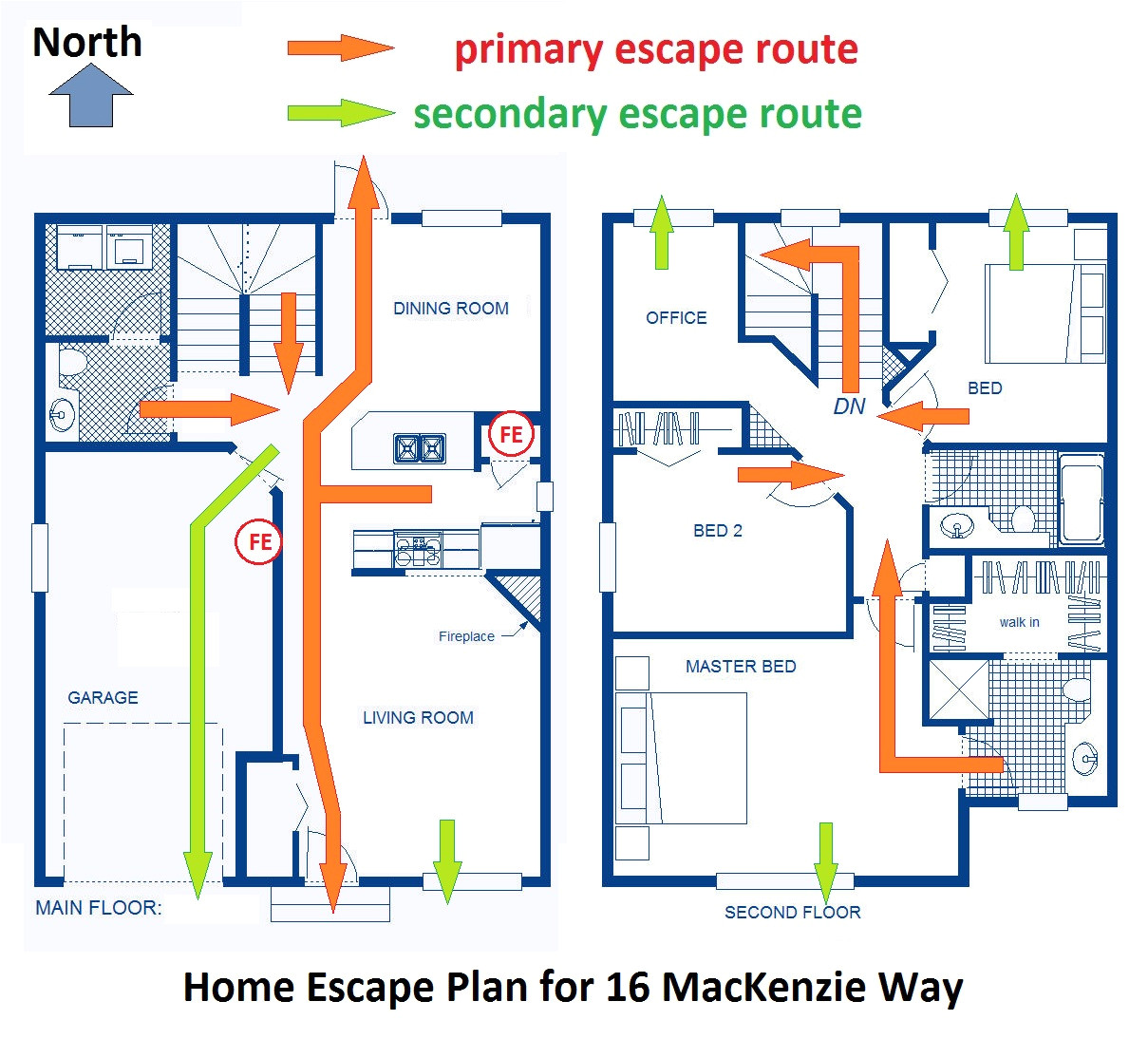 planning a fire evacuation route for your home