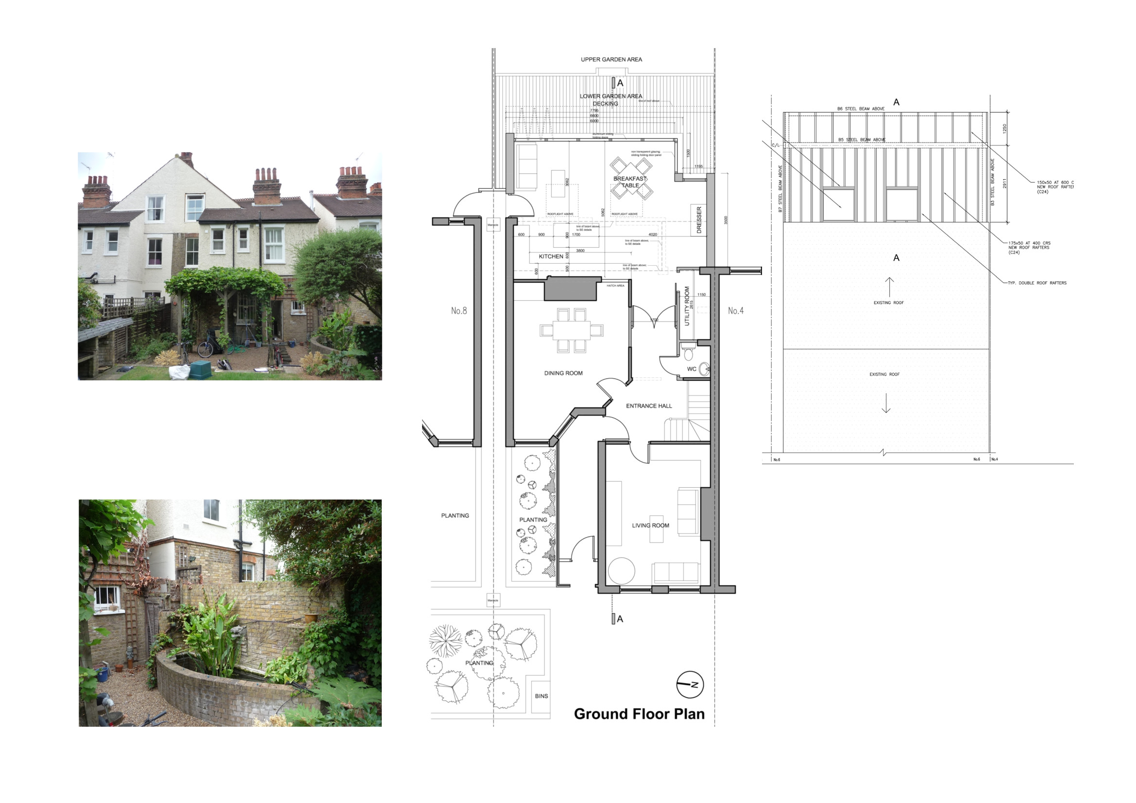 rear house extension plans