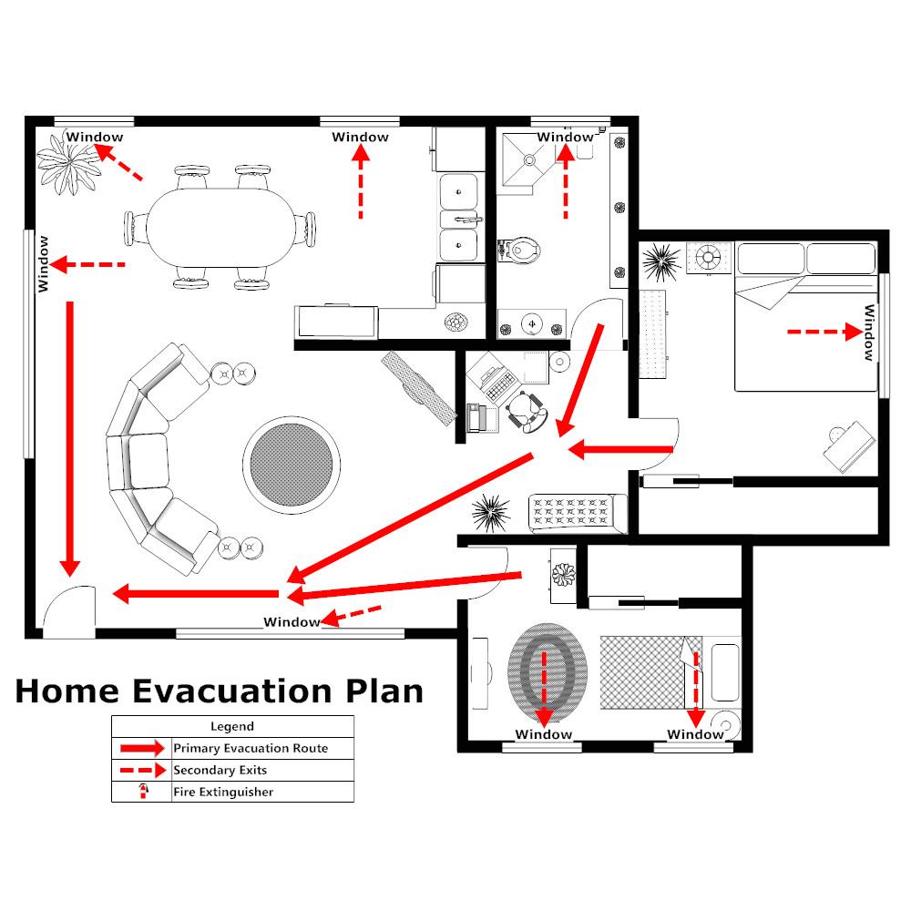 Home Fire Plan Home Evacuation Plan 2