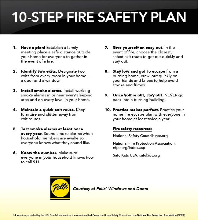 Home Fire Safety Plan Home Safety Emergency Plan