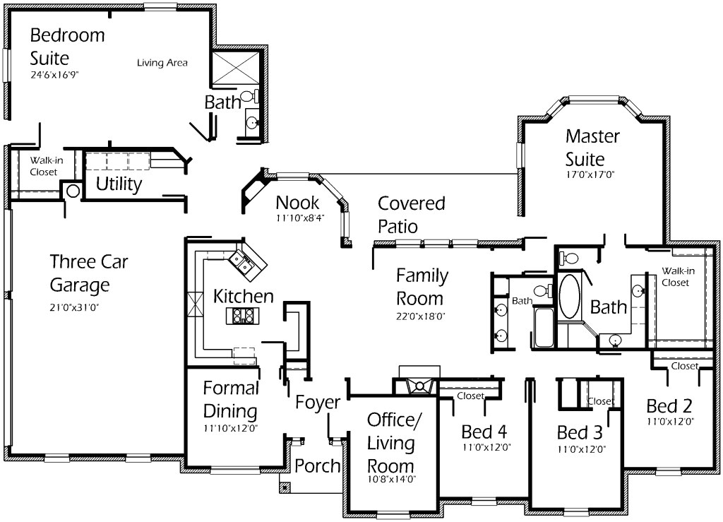 house floor plans with inlaw suite