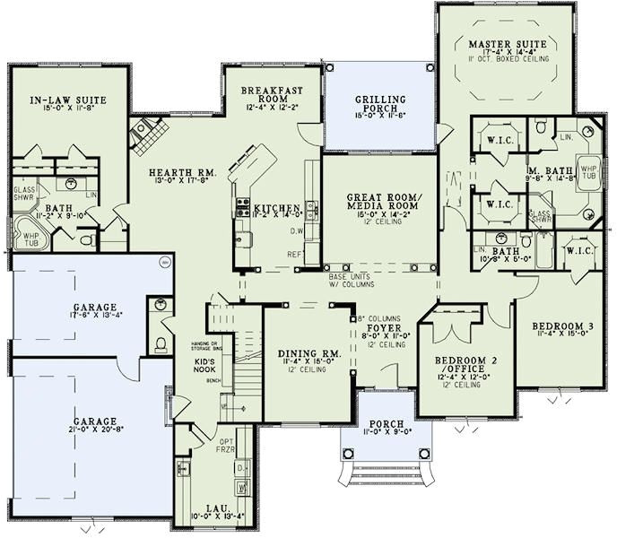 impressive home plans with inlaw suites 8 house with in law suite floor plans