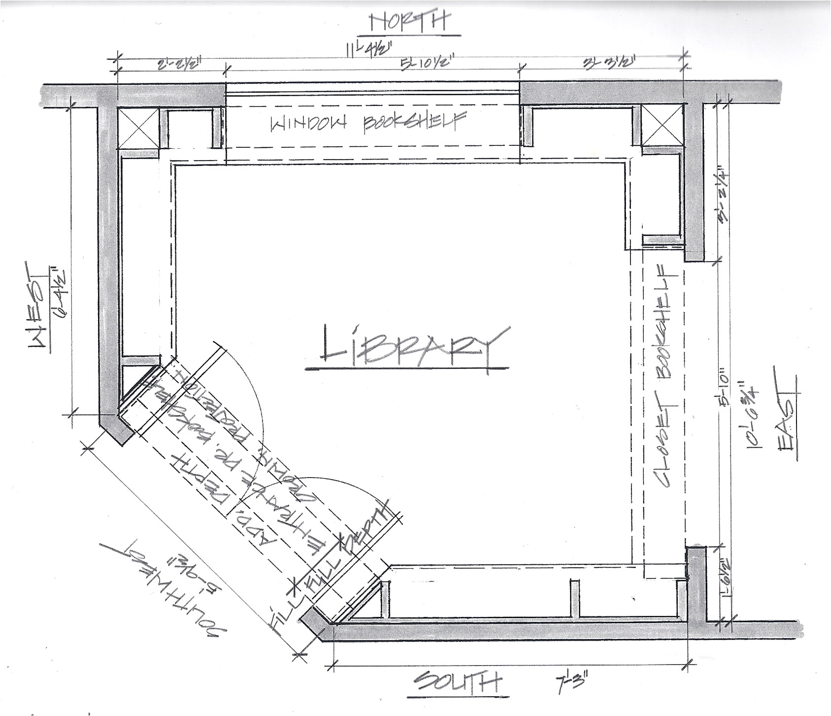 Home Library Floor Plans Custom Built Home Library In Cheery Wood A Case Study