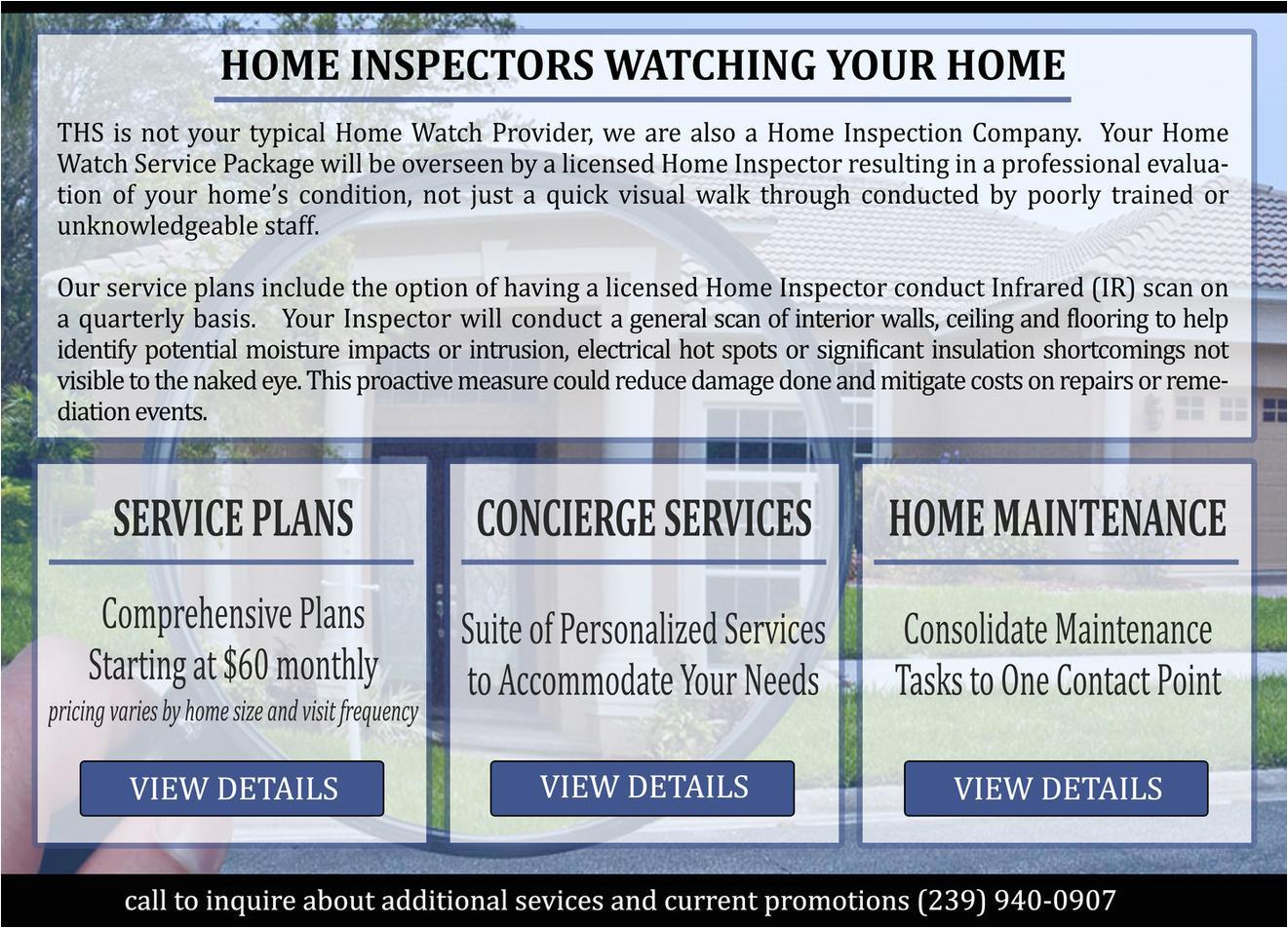 home maintenance service plans