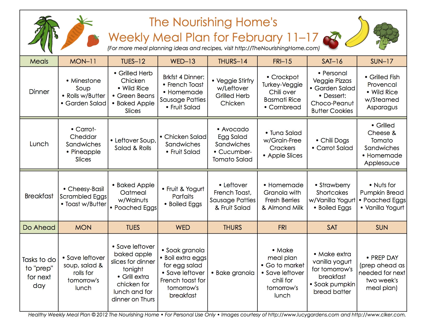 meal plan monday february 4 17