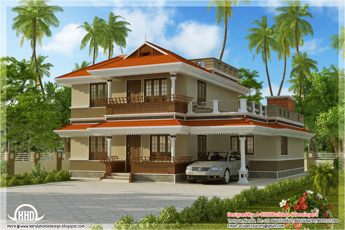 kerala model home plan in 2170 sqfeet