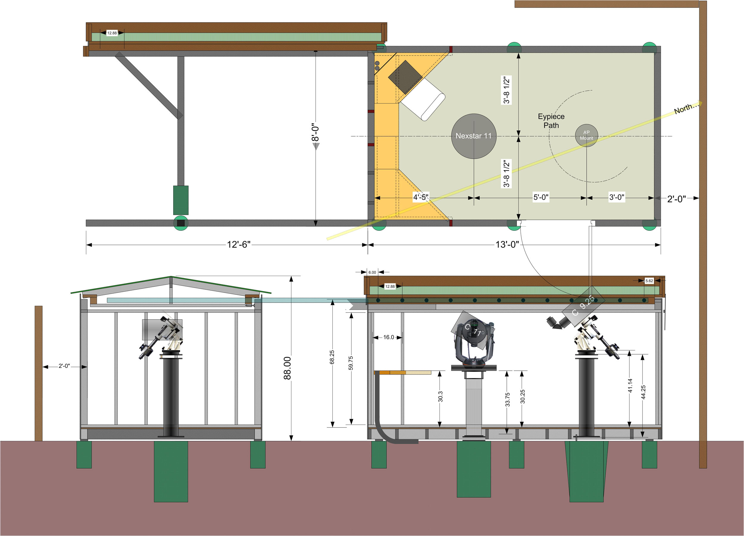 Home Observatory Plans Shed Observatory Plans Goehs