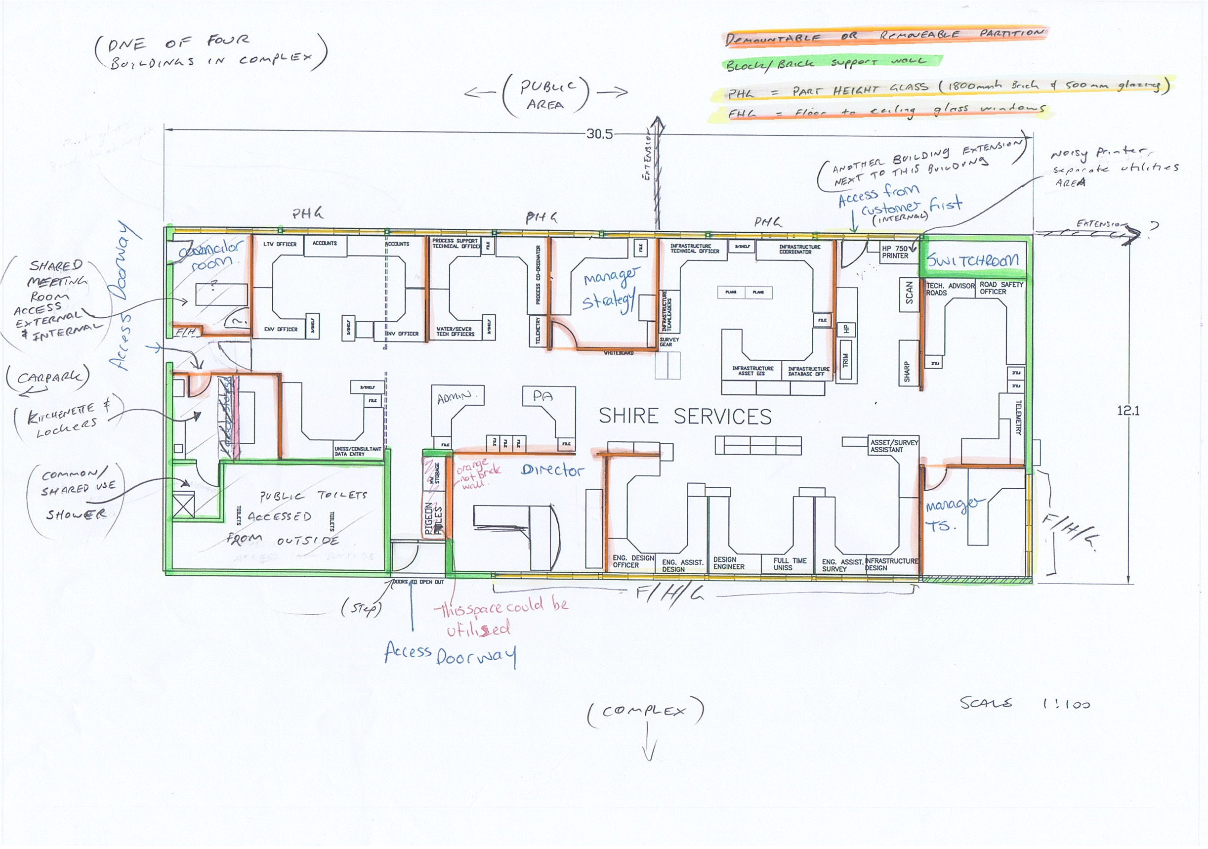 commercial office space planning design interior