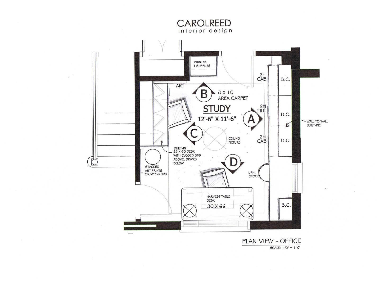 Home Office Plans Creed A Family Home Office