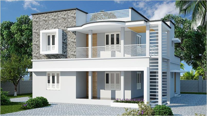 Home Plan Designer 1565 Sq Ft Double Floor Contemporary Home Designs