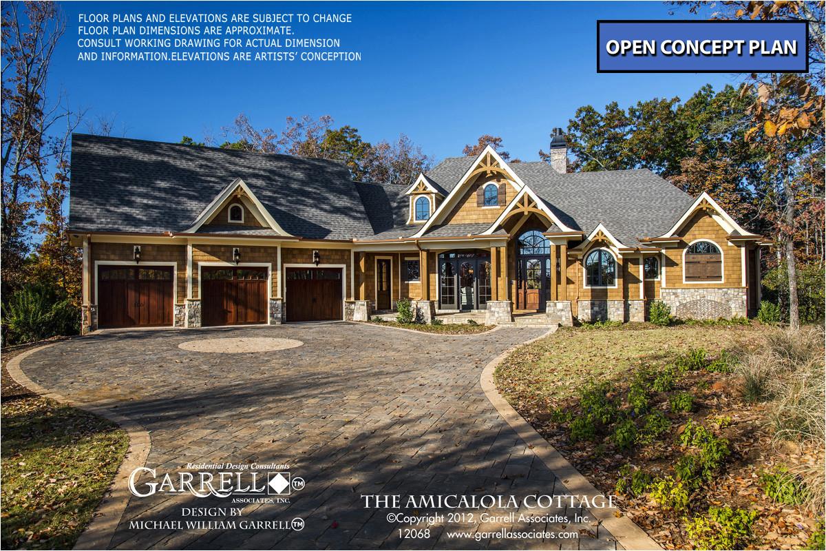 amicalola cottage house plan 12068