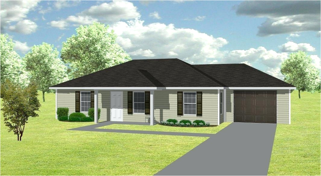 simple house plans with double garage