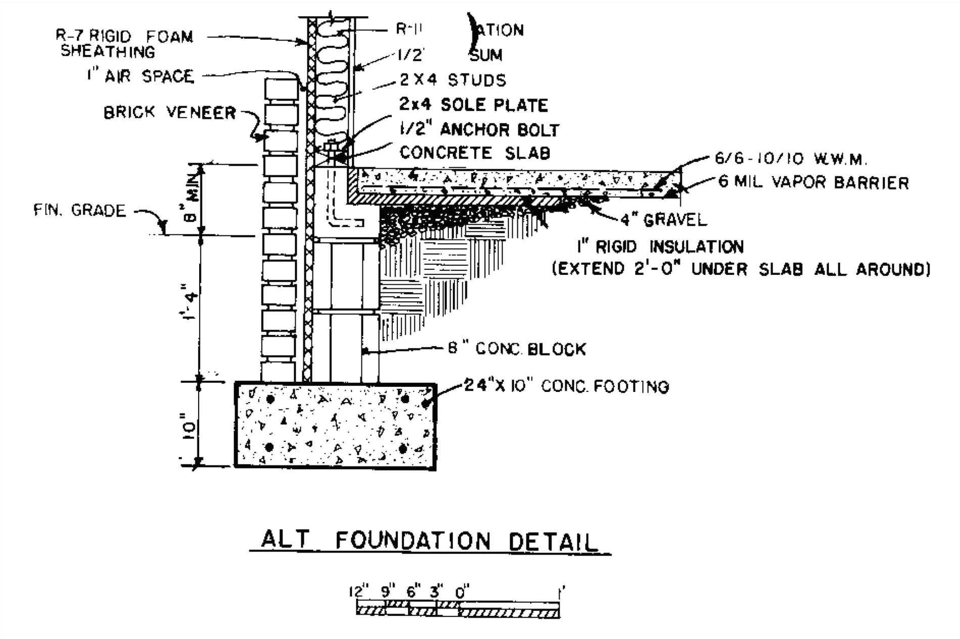 brick foundation section