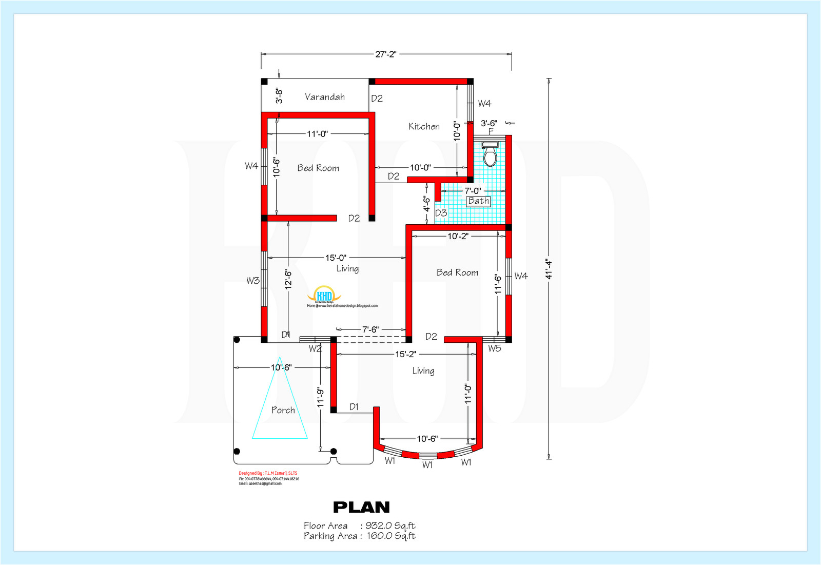 home plan and elevation 1200 sq ft