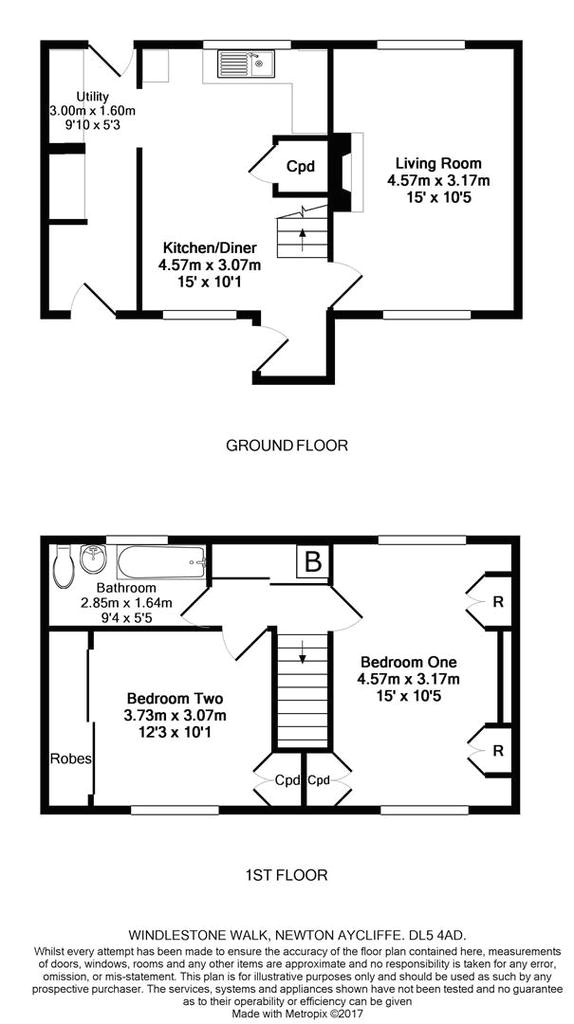 Home Plan Newton Aycliffe Windlestone Walk Newton Aycliffe 2 Bed Terraced House