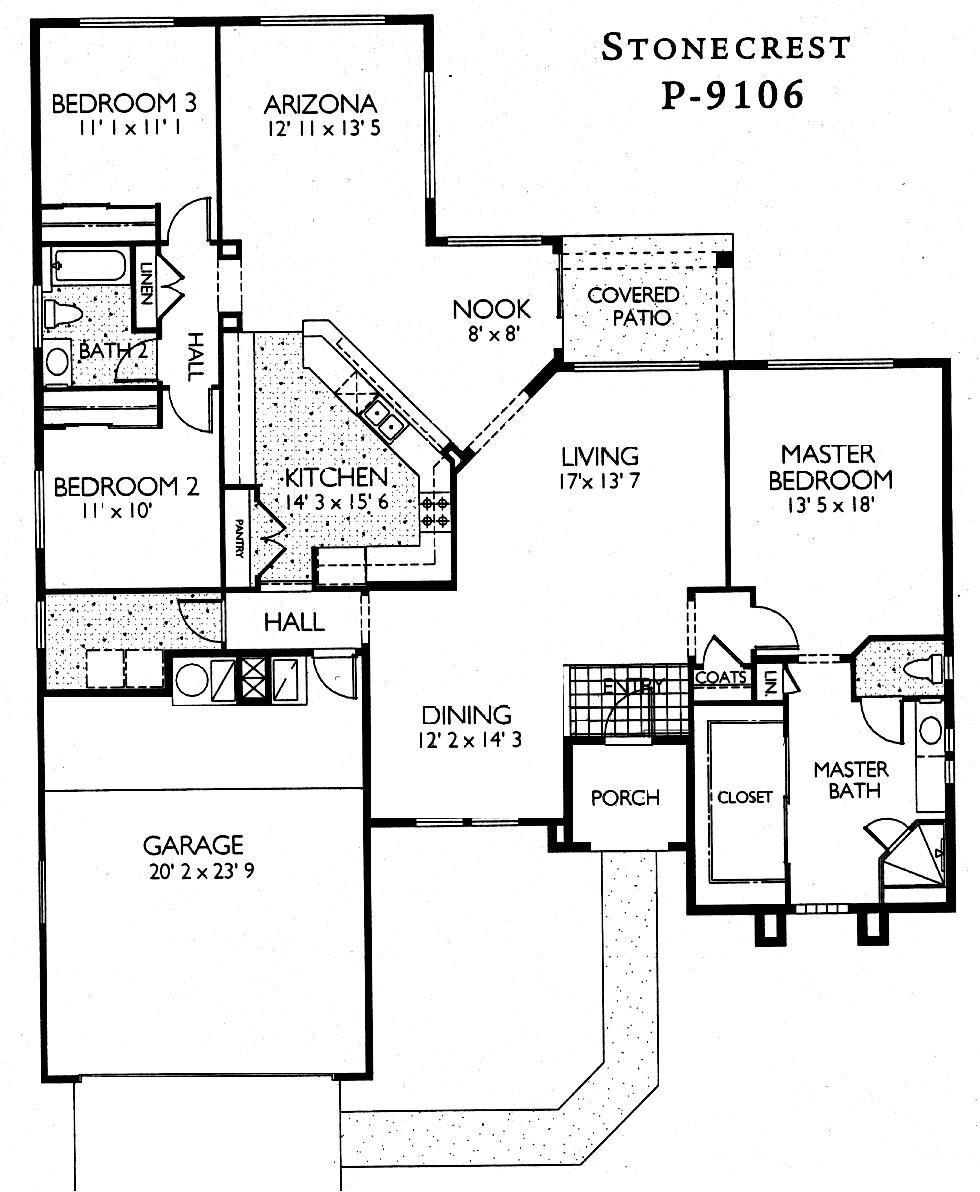 inspiring arizona house plans 7 sun city grand floor plans