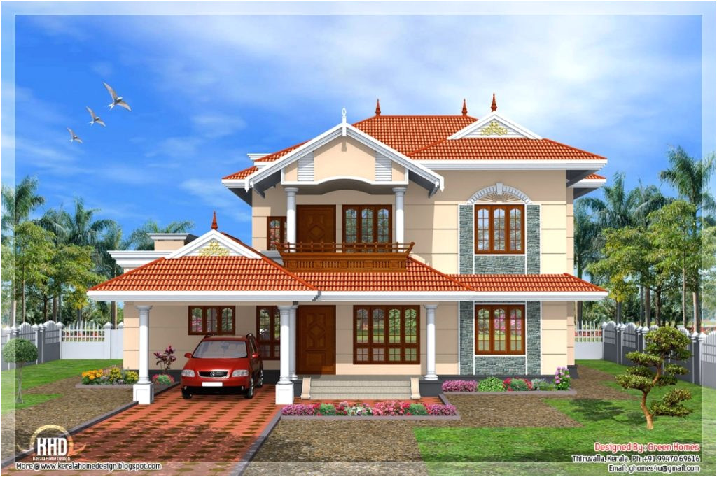 beautiful new style home plans in kerala