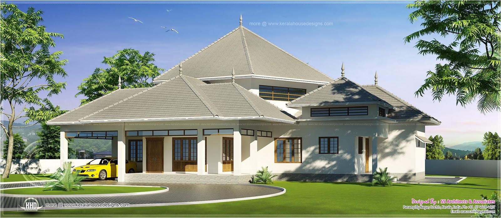 kerala style single storey feet home design house plans 58459 2