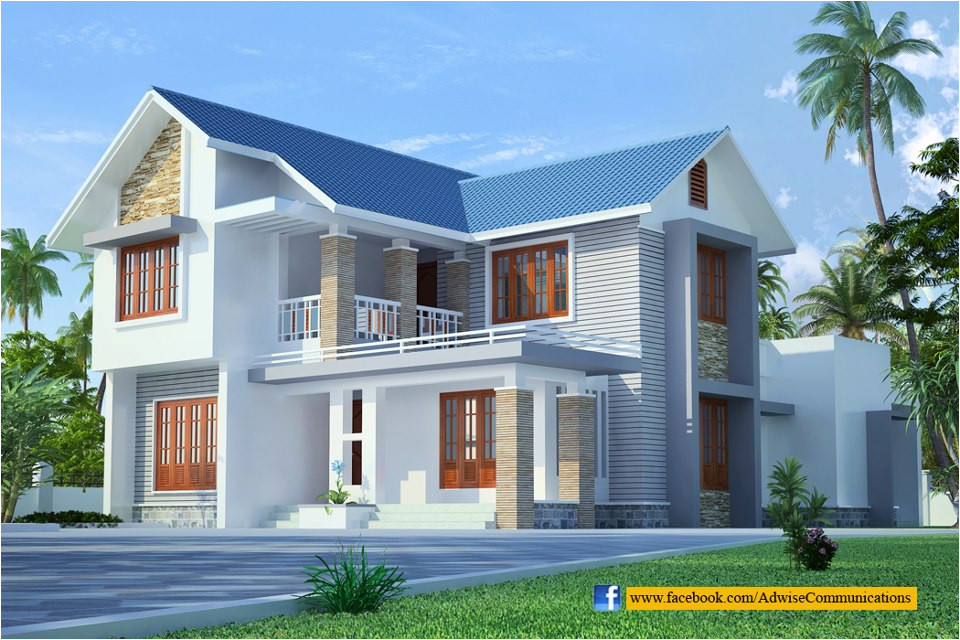 sloped roof kerala home design 2
