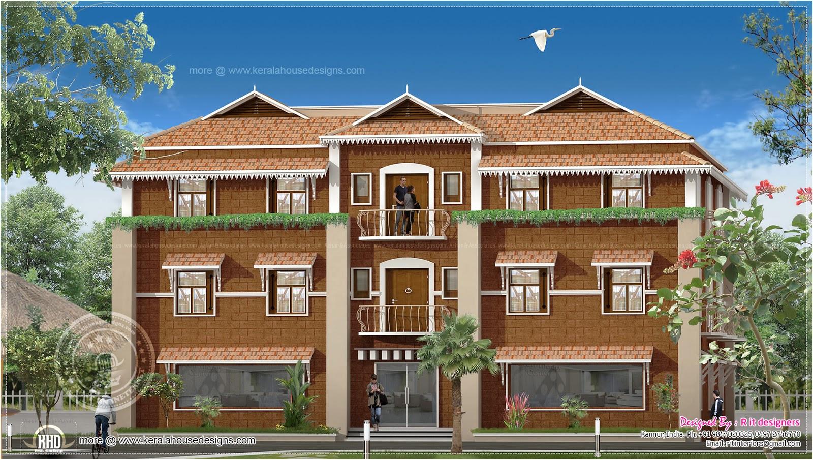 duplex house elevation design in kerala