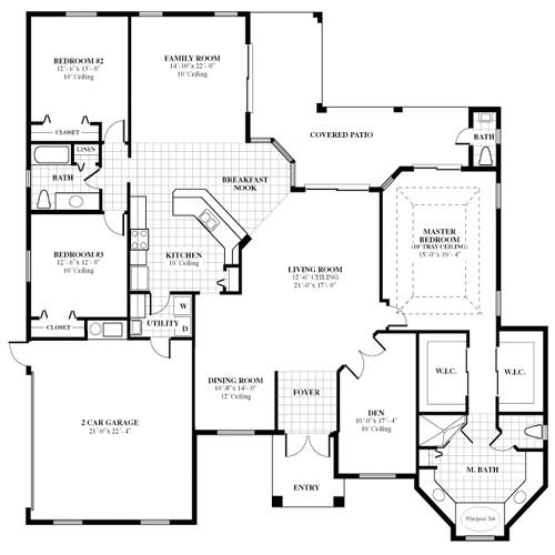 Home Plans Floor Plans Florida Home Builder Woodland Enterprises Poplar Home