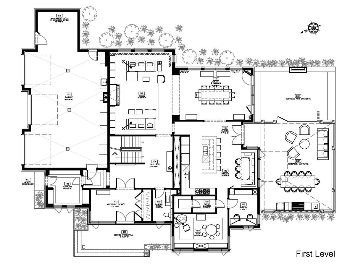 great modern house floor plans