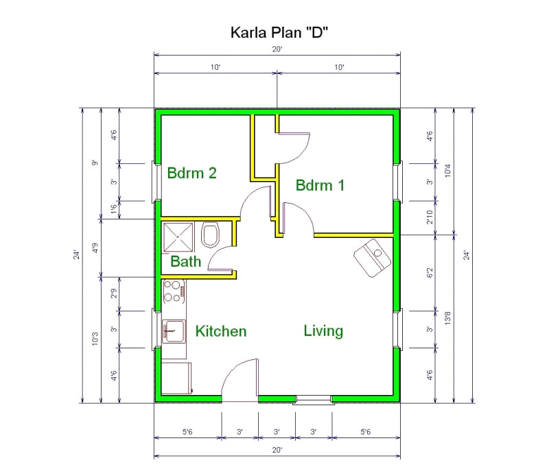 Home Plans forx30 Site 20 X 30 Site House Plans