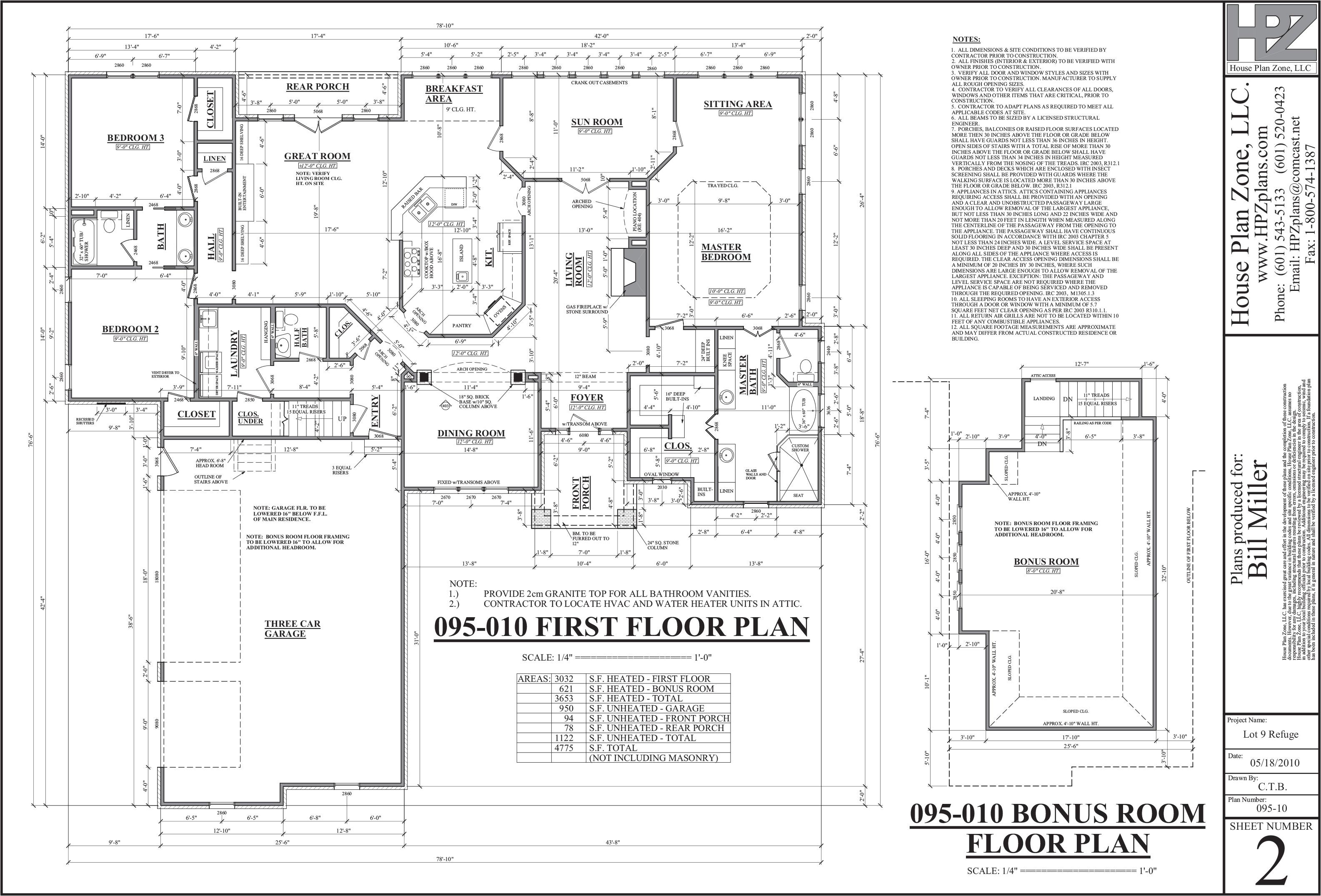 the refuge house plans