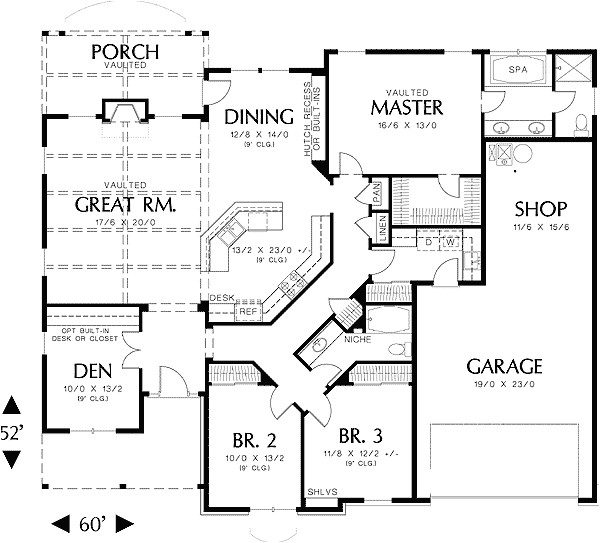 single story house floor plans plan w69022am northwest cottage photo gallery house plans home