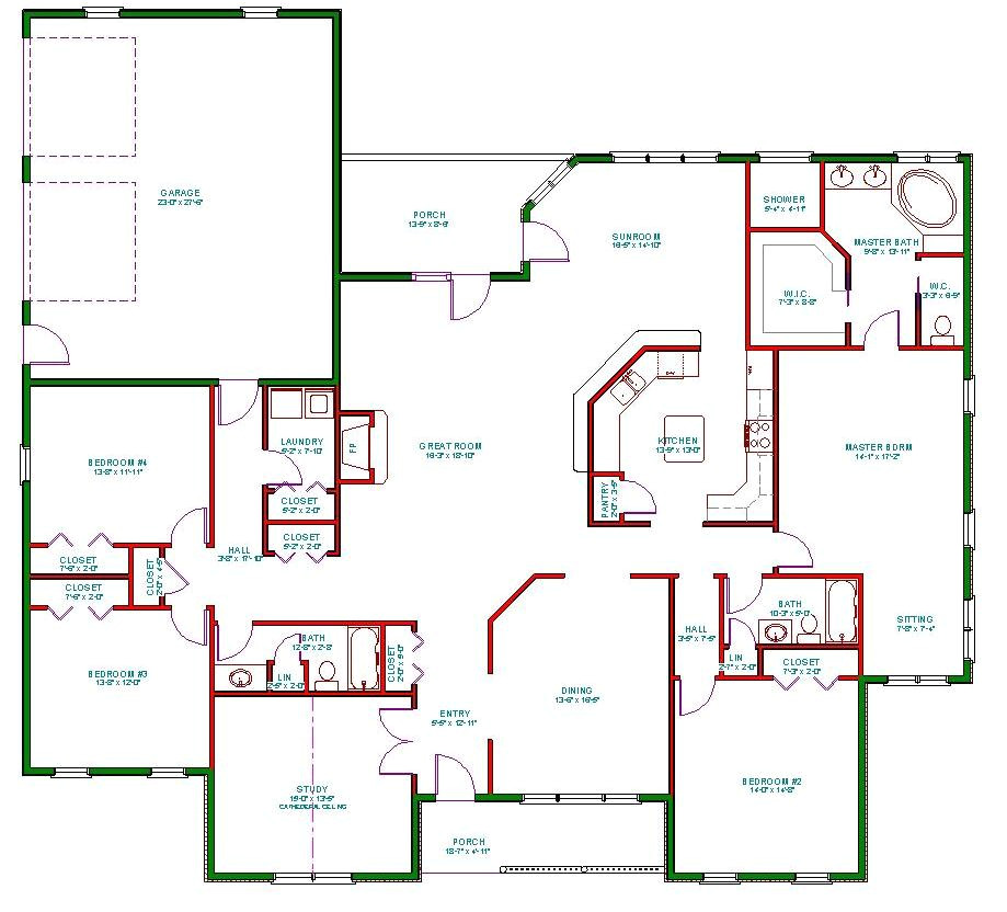 traditional ranch house plan d65 3067
