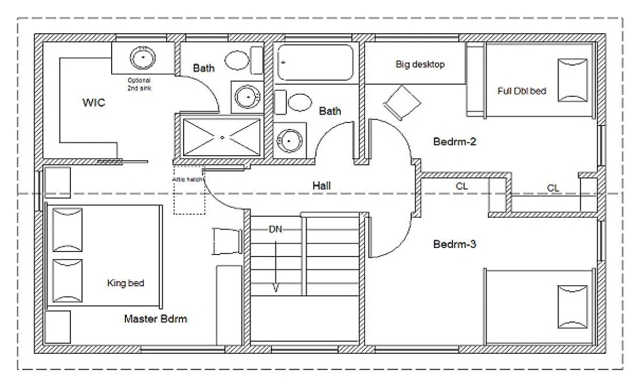 94a0a30f6eb671c5 2 bedroom house simple plan simple house floor plan