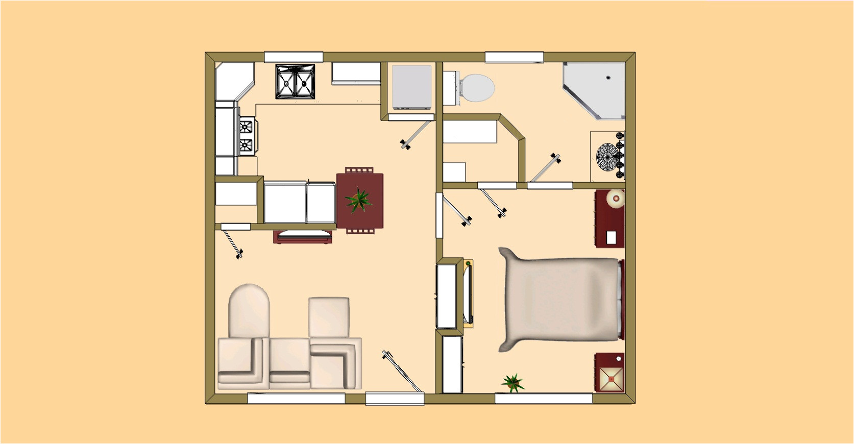 small house plans under 500 sq ft in kerala