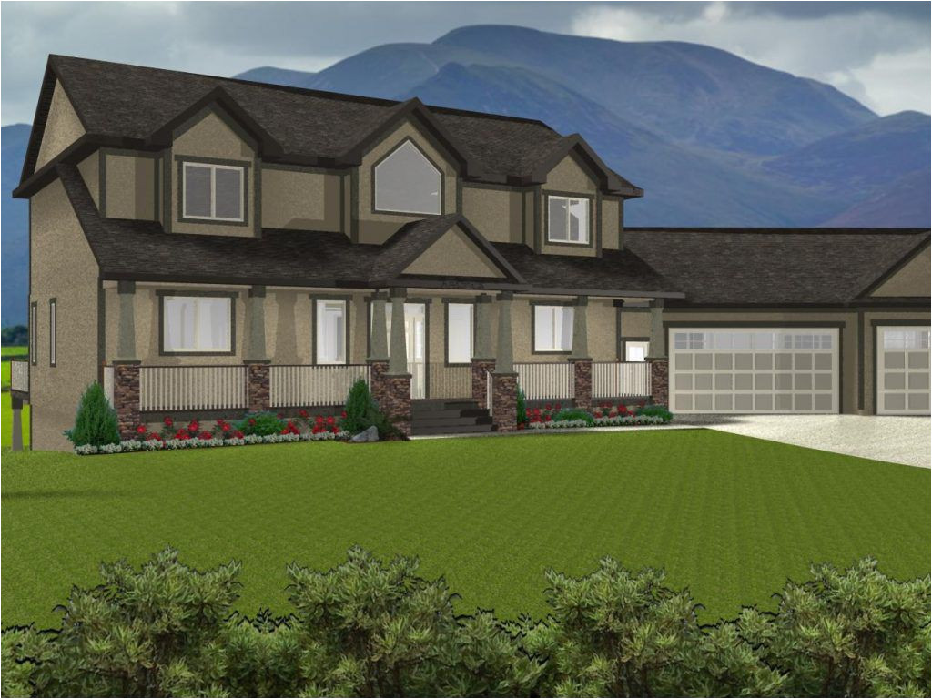 2 story house plans with walkout basement