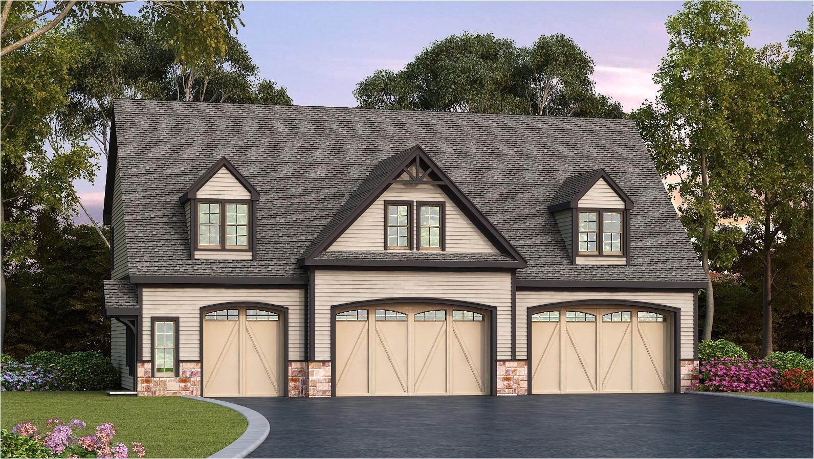 residential 5 car garage plan 29870rl