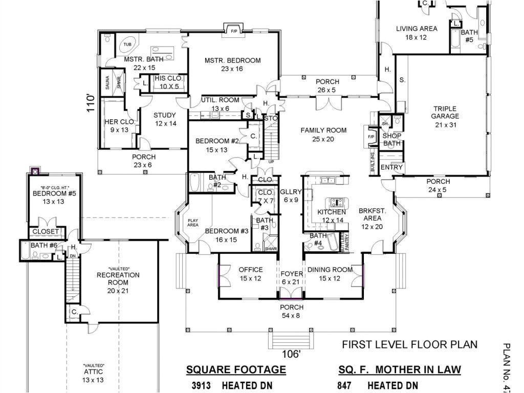 house plans with mother in law apartment